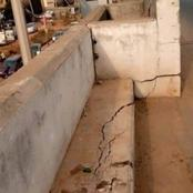 Check out the dangerous flyover in Awka that is almost collapsing