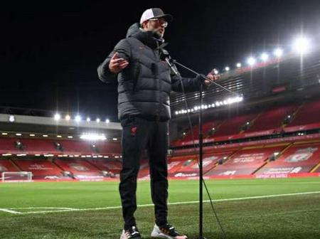 Liverpool manager Jurgen Klopp hits hard at the decision of bringing fans back into stadiums