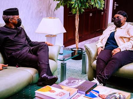 Checkout Reactions From Fans As Singer Teni Meets With Vice President, Yemi Osinbanjo.