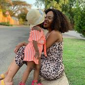 Recent Photos Of Dintle From Scandal (Mapaseka) Along With Her Baby Girl.