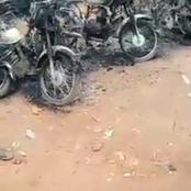 Revenge: Angry Youths attacks 'Aboki Okada Riders' in Edo, Burn their Houses and Motorcycles for setting a man ablaze