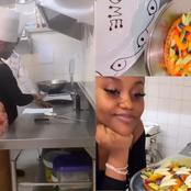 Davido's Fianceè, Chef Chioma Shares Photos Of Her Preparing A Fruit Meal Amid Break Up Rumours