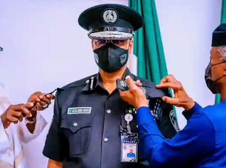 What Osibanjo Told Acting IGP After Decorating Him With New Rank