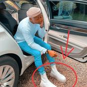Mixed Reactions as Otile Brown's Shoes Cause A Stir Online