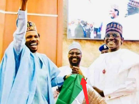 Moment Senator Ishaku Abbo Defected From PDP To The Ruling Party, APC