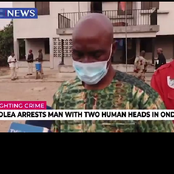 30-Year-old Man, Hassan Saka Was Arrested With 2 Human Heads in Ondo State (video)