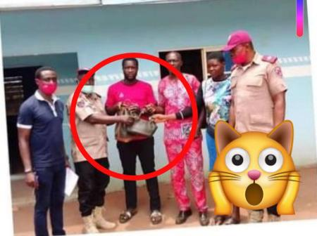 After His Mother Died In An Accident, See What FRSC Officers Gave To This Man That Got Mixed Reactions