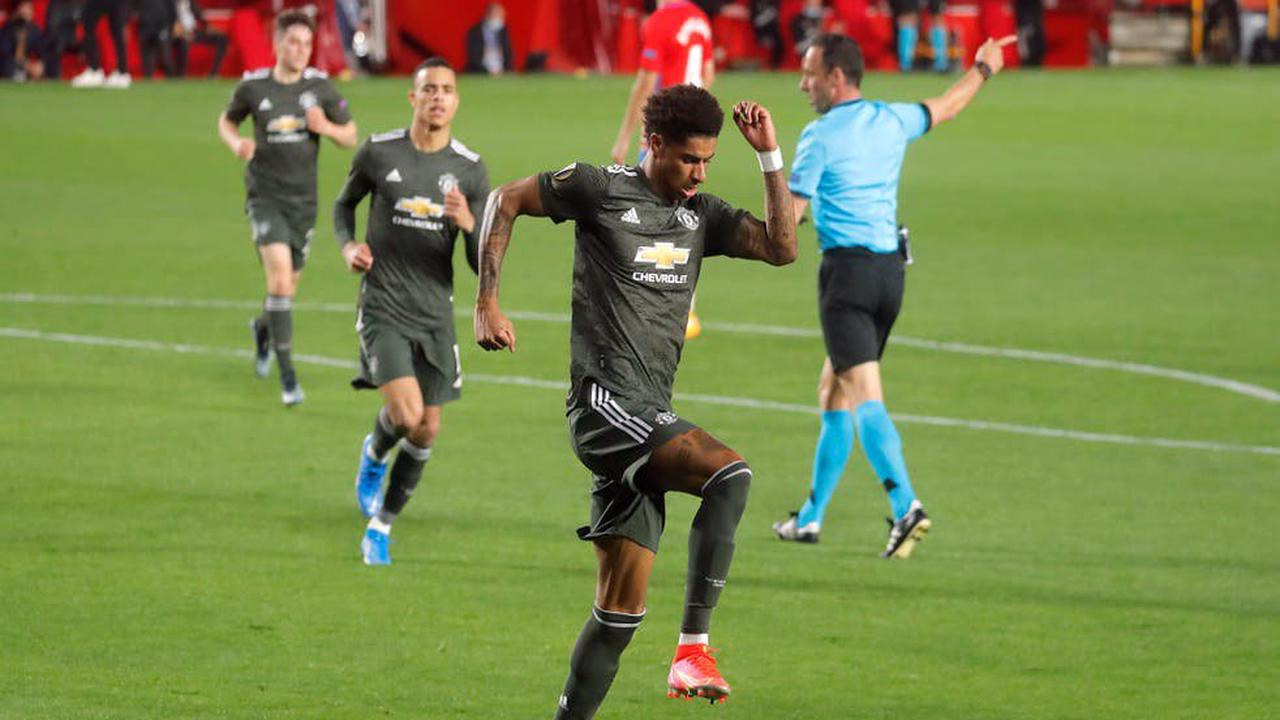 Manchester United put one foot in semi-finals after Marcus Rashford and Bruno Fernandes strike