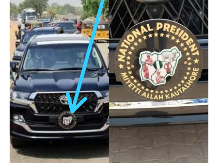 Check Out What Nigerians Spotted On Miyetti Allah President's SUV That Got People Reacting
