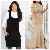 Checkout Some Beautiful Pinafore And Mermaid Attires Ladies Can Rock This Week