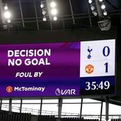 Moments After Man United's Goal Was Disallowed By VAR, See The Word That Started Trending On Twitter