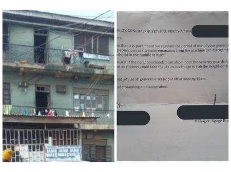 Lagos Landlady Imposes Curfew On The Use Of Generator Set