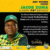 Tweeps wish former President Jacob Zuma a happy birthday.