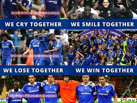 We cry together, We smile together, We lose together: Why Chelsea is family kind of club.