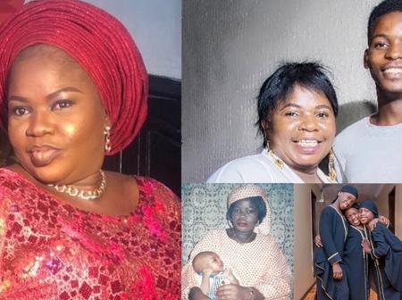 Checkout Lovely Photos Of Yoruba Actress Iya Ibadan And Her Children