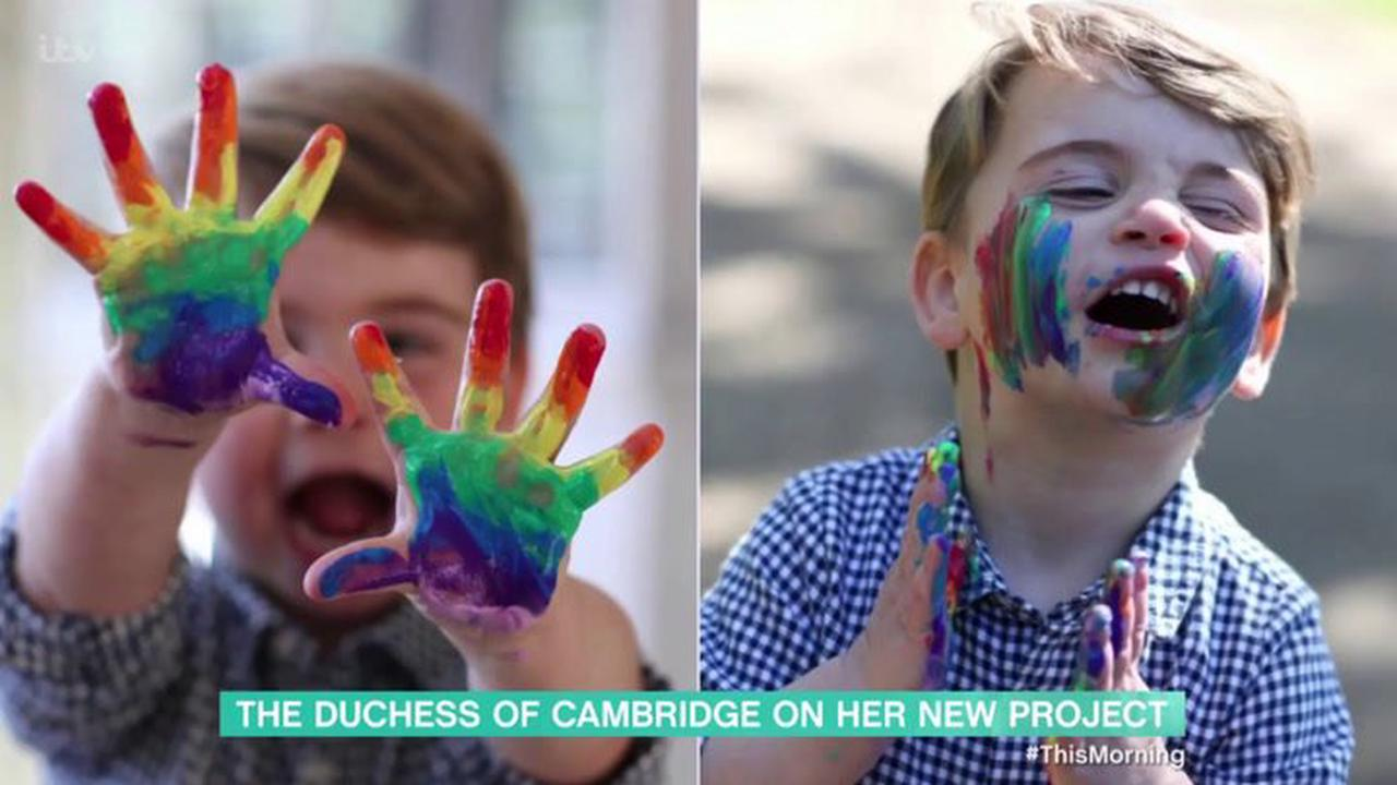 Prince Louis's third birthday marked with picture of his first day of nursery
