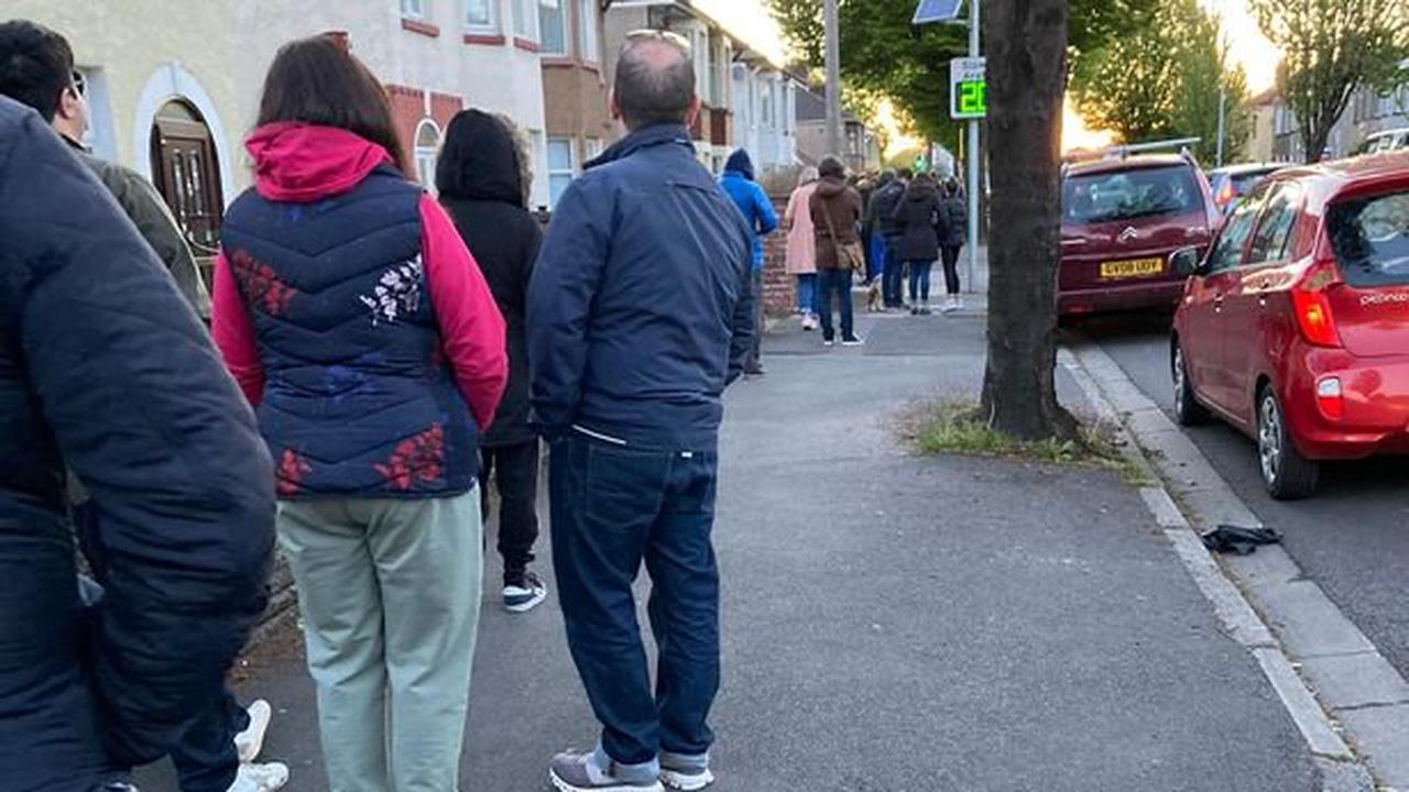 Massive queues and hour-long waits at polling stations on election day