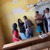 VIDEO: Drama as student reportedly tears lecturer's cloth after he stopped her from writing exams