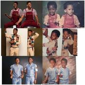 BBN Elozonam & his twin celebrates their 35th birthday as they recreated some childhood photos