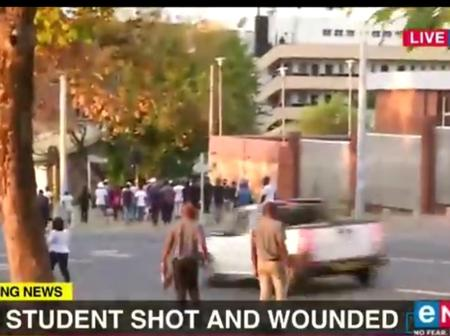 Johannesburg student shot and wounded.