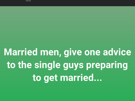Married men advises singles on what to know before getting into marriage