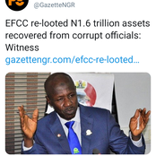 Revealed: How about 1.6 trillion Naira worth of recovered assets was re-looted under Magu's EFCC.