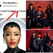 3 Months After Erica Nlewedim tweeted this - See Photos as She lands a role in an Action Movie.