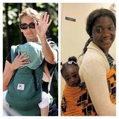 Photos Of American Celebrities And Nigerian Celebrities Carrying Their Babies
