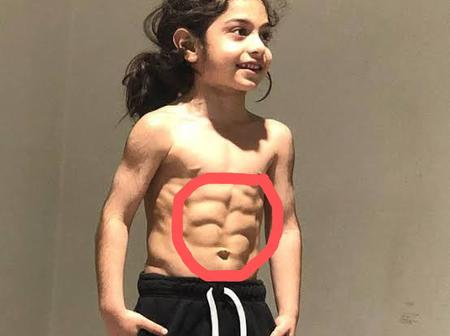 Meet the 7 year Old Boy that Became Popular for Having 6 Packs