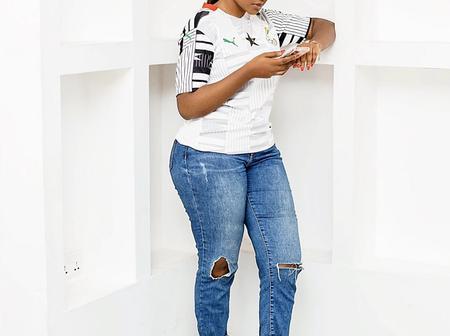 Anita Akuffo rocking beautifully in her Blackstars jersey