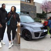 Kenneth Omeruo buys Range Rover for his wife as birthday gift, See Photos