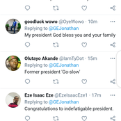 Read What Goodluck Jonathan Posted On Twitter That Got people Talking