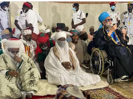 7 Photos: Emir of Kano, Alhaji Aminu Ado Bayero attends Juma'at Zikir in Central Mosque of Abuja.