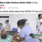Massive Reactions As Akufo-Addo Takes First Shot Of Covid-19 Vaccine.