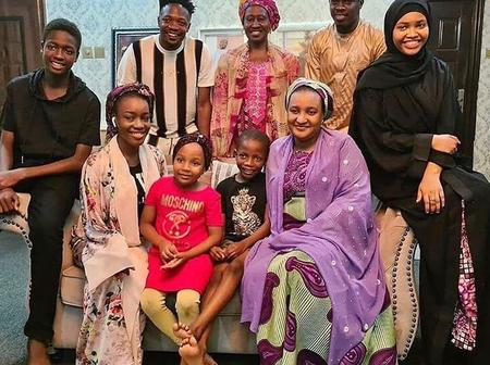 Kannywood Actor, Ali Nuhu And His Family Pay A Visit To Ahmed Musa At His Residence [PHOTOS]