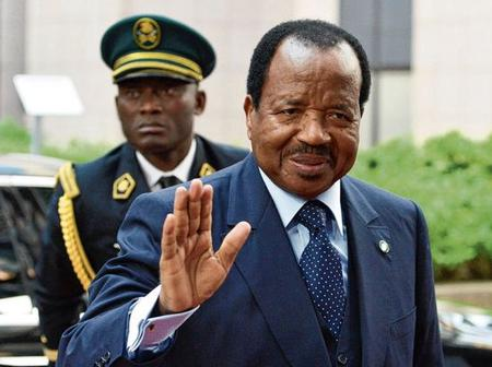 He is the longest ruling president in Africa today, 45 years