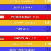Stake and Win Tonight from these Accurately Analysed Football Predictions