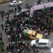 Bodaboda Rider Knocked by a Speeding Car at Moi Avenue, Nairobi
