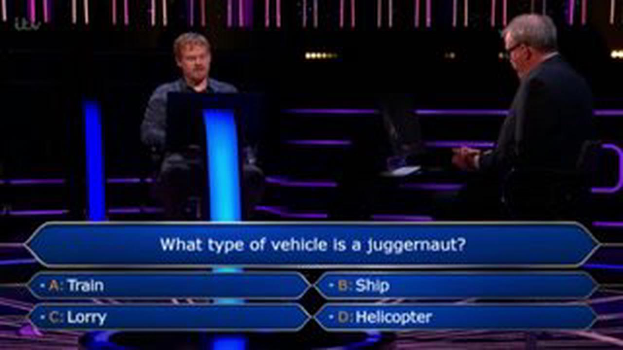 Jeremy Clarkson in despair after WWTBAM player gets stuck at £500 question 'Disappointed'