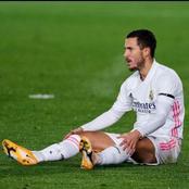 Real Madrid's star, Eden hazard continues in nightmare.