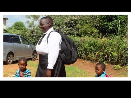 A 62 years old Gogo went back to school to do grade 8 after 47 years of drop-out.