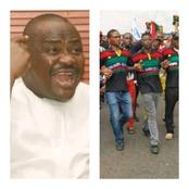 Governor Wike bans IPOB in Rivers state, after damages in the state were linked to them.