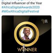 Timothy Njuguna (Njugush) wins prestigious award