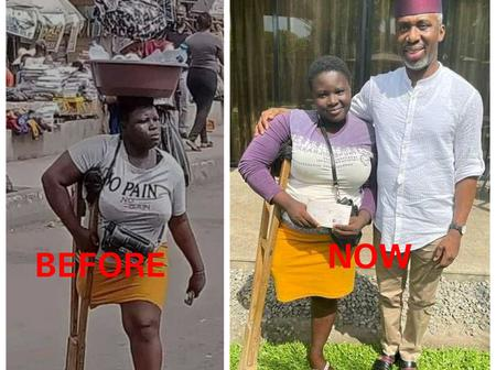 The One Legged Bottle Water Hawker Has Been Gifted 1 Million Naira By Ugwumba Uche Nwosu (Photos)