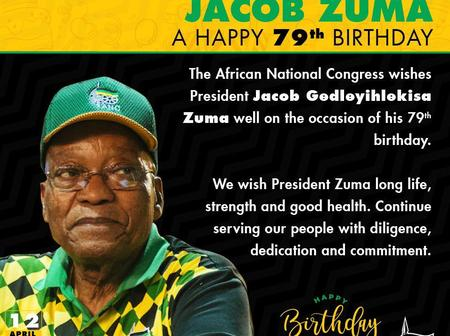 ANC still cares for Jacob Zuma with birthday wishes