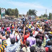 Thousand of Residents in Gatanga Turn Up to Welcome DP Ruto in Murang'a County