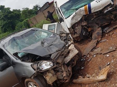 GOD IS GREAT: 2 Vehicle Collide With Each Other in A Ghastly Accident And No Life Was Lost (PHOTOS)