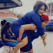 Reactions As Popular Yoruba Actress Had Fun With Omoborty On Set Of Movie, Premium Babes. (Video)