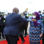 Happening Now; Suluhu Attends Her First Official Duty In a Foreign Country