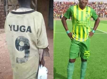 Plateau United striker offers full scholarship to a teenager begging for food on the street.